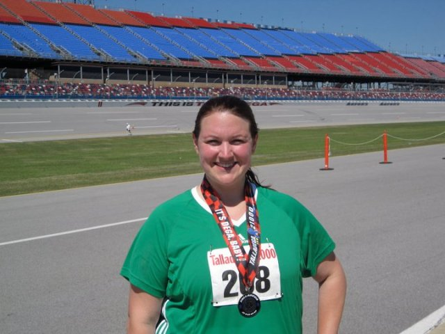 After my first half marathon, April 2011.