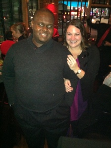 Jermaine & I after he proposed!