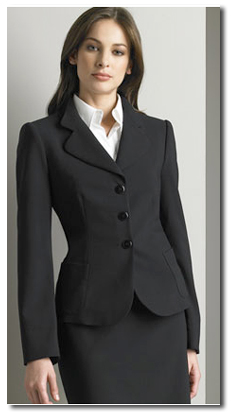 There's nothing wrong with a buttoned-up suit like this, but in a business casual office, it may be too much. It's a good idea to have a conservative suit, though, for interviews and more important business meetings or conferences.