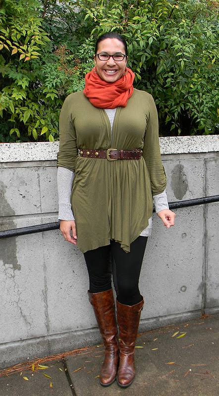 With a tunic, or long sweater, and boots, leggings work!