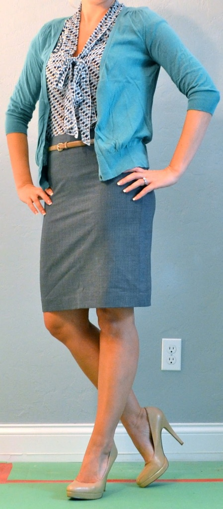 This pencil skirt, while still body conscious, is a great length and fit.