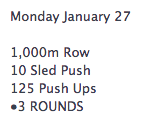 Here's the WOD I'll be doing tonight after work.