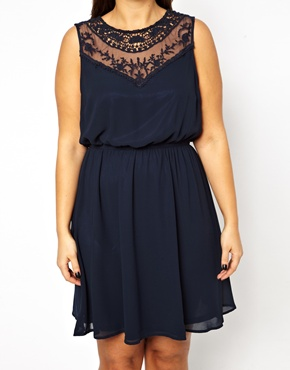 ASOS New Look Inspire crochet insert dress