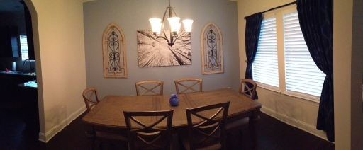 Our dining room is almost complete!