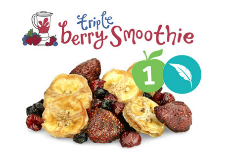 This snack was in my first box, and I loved it! The strawberries eaten with the bananas — yum!