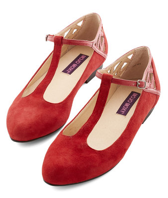Red, White and Blues Dance Flats, $51