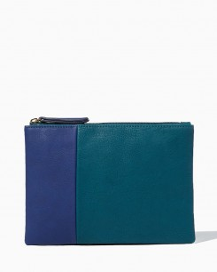 Charming Charlie Aella Colorblock Clutch, $10