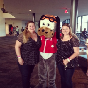 We celebrated at a Birmingham Barons baseball game with our husbands this past weekend!