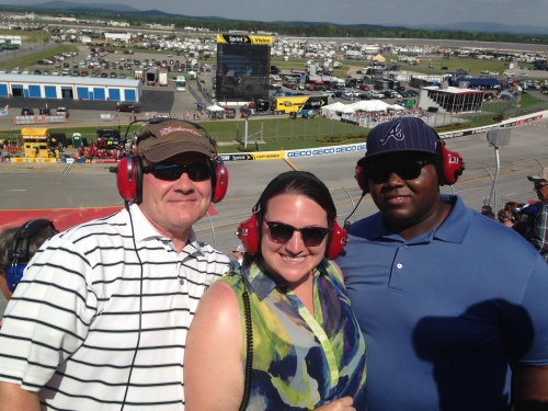 At Talladega Speedway with my dad and husband on Sunday!