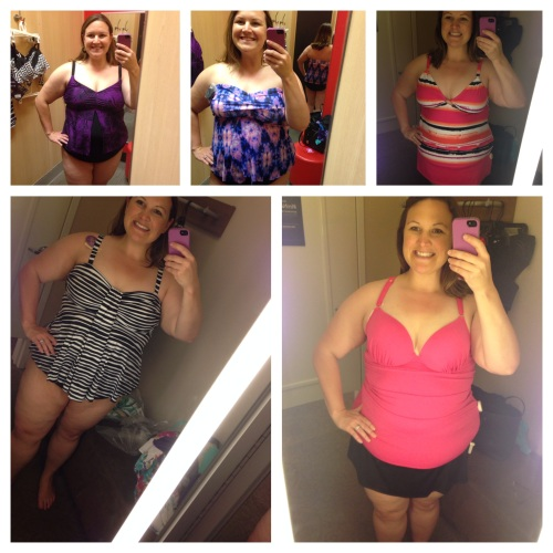 (from top left) Target top and bottom, $28 and $23; Target, $28; Lane Bryant
