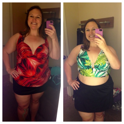Lane Bryant, bottom $??, (left) top, $??, (right) top $??