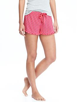 Women's Ruffle-Trim Boxers - PINK PINEAPPLE